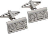 Unique & Co Steel Cufflinks QC-191 - Hamilton & Lewis Jewellery