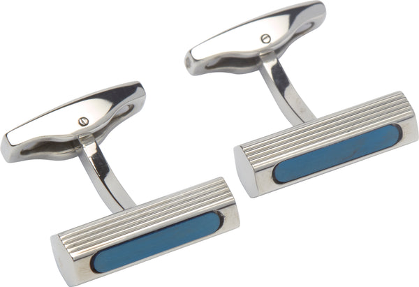 Unique & Co Steel Cufflinks QC-205 - Hamilton & Lewis Jewellery