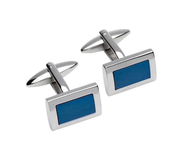 Unique & Co Steel Cufflinks QC-210 - Hamilton & Lewis Jewellery