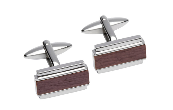 Unique & Co Steel Cufflinks QC-211 - Hamilton & Lewis Jewellery