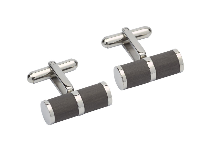 Unique & Co Steel Cufflinks QC-212 - Hamilton & Lewis Jewellery
