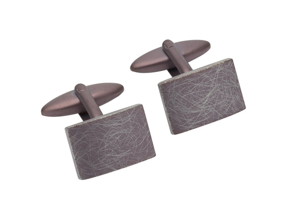 Unique & Co Steel Cufflinks QC-219 - Hamilton & Lewis Jewellery