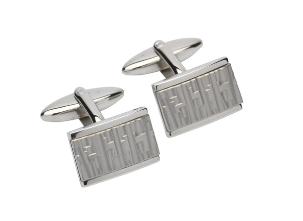 Unique & Co Steel Cufflinks QC-222 - Hamilton & Lewis Jewellery