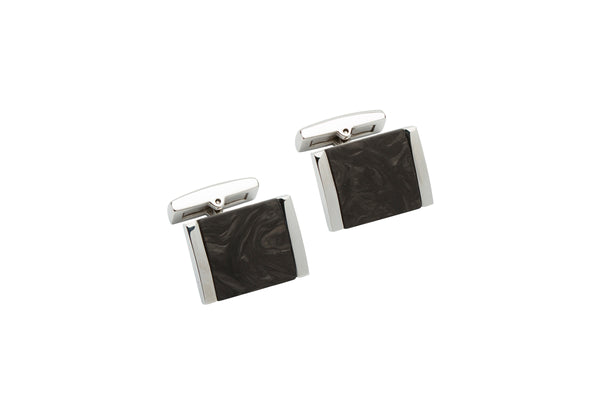 Unique & Co Steel Cufflinks QC-225 - Hamilton & Lewis Jewellery
