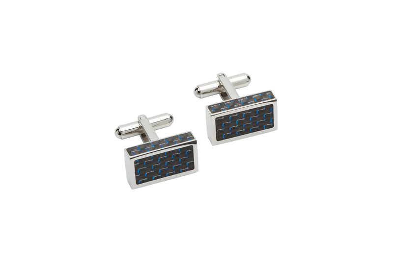 Unique & Co Steel Cufflinks QC-227 - Hamilton & Lewis Jewellery