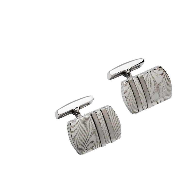Unique & Co Steel Cufflinks QC-230 - Hamilton & Lewis Jewellery