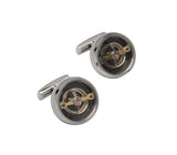 Unique & Co Steel Cufflinks QC-233 - Hamilton & Lewis Jewellery