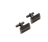 Unique & Co Steel Cufflinks QC-239 - Hamilton & Lewis Jewellery