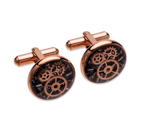 Unique & Co Steel Cufflinks QC-261 - Hamilton & Lewis Jewellery