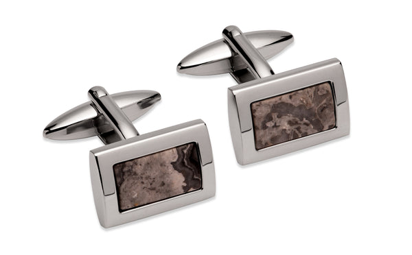Unique & Co Steel Cufflinks QC-262 - Hamilton & Lewis Jewellery