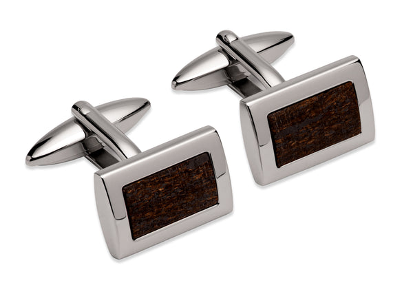 Unique & Co Steel Cufflinks QC-263 - Hamilton & Lewis Jewellery
