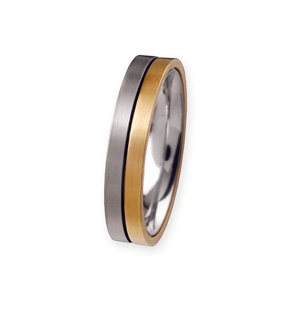 Unique & Co Titanium/Gold Ring R57