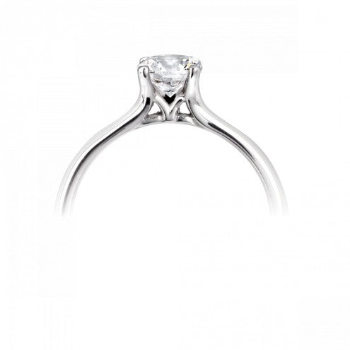 Round Four Claw Solitaire Ring 0.25ct - 1.00ct - Hamilton & Lewis Jewellery