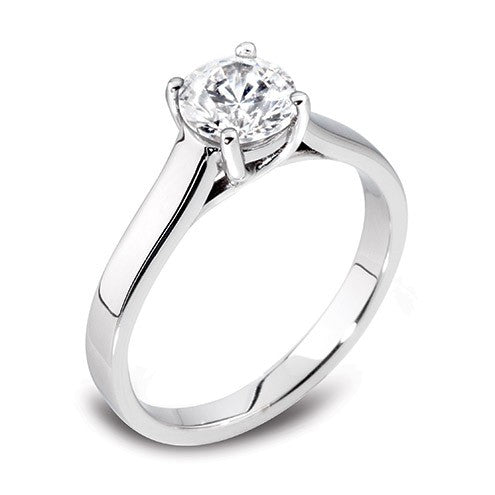 Round Four Claw Solitaire Ring 0.35ct - Hamilton & Lewis Jewellery