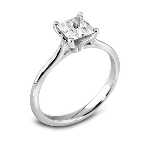 Four Claw Princess Cut Engagement Ring 0.25ct - 1.00ct - Hamilton & Lewis Jewellery