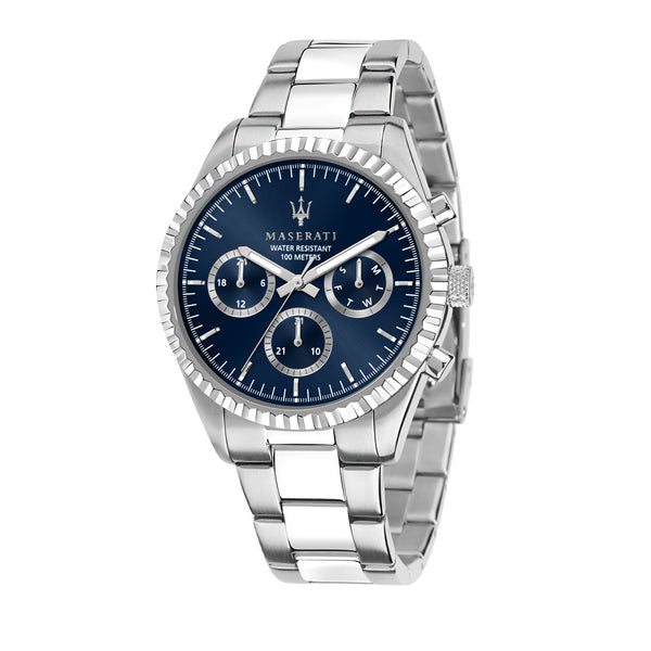 Maserati Competizione 43mm Blue Dial Watch R8853100022