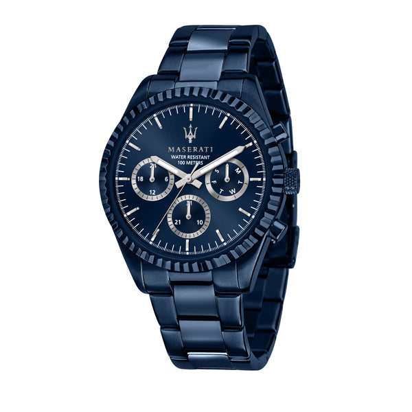 Maserati BLUE EDITION 43mm MLT BLUE DIAL/BR Watch R8853100025
