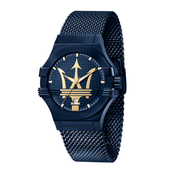 Maserati BLUE EDITION 42mm BLUE DIAL/Mesh BR Watch R8853108008