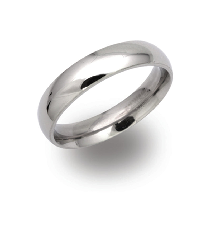 Unique & Co Steel Ring R9104 - Hamilton & Lewis Jewellery