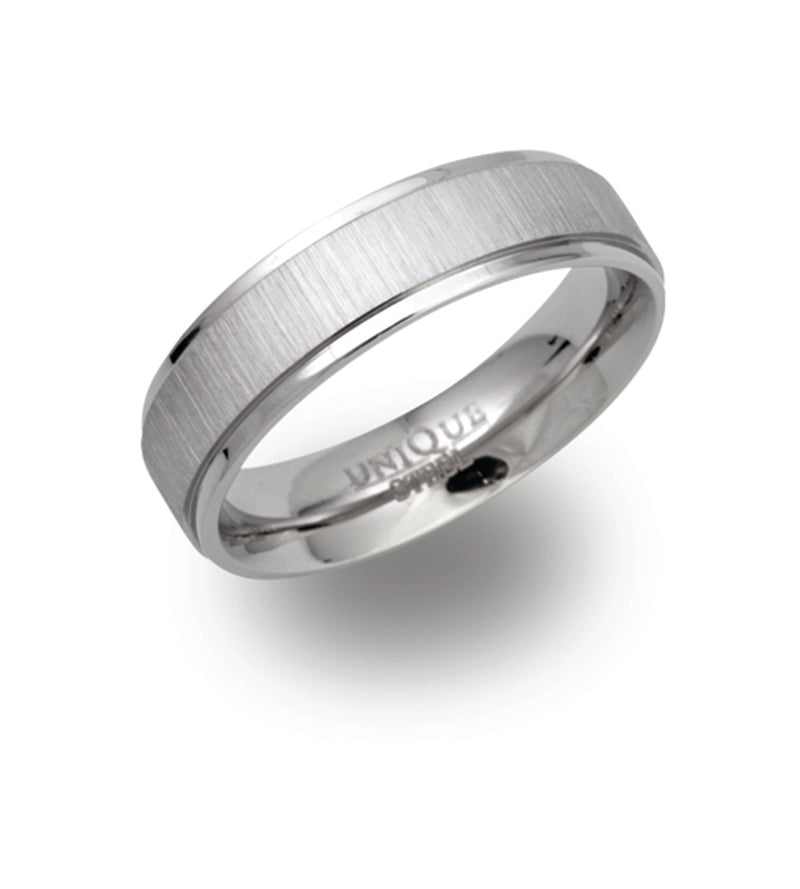 Unique & Co Steel Ring R9106 - Hamilton & Lewis Jewellery