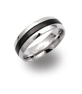 Unique & Co Steel Ring R9108 - Hamilton & Lewis Jewellery