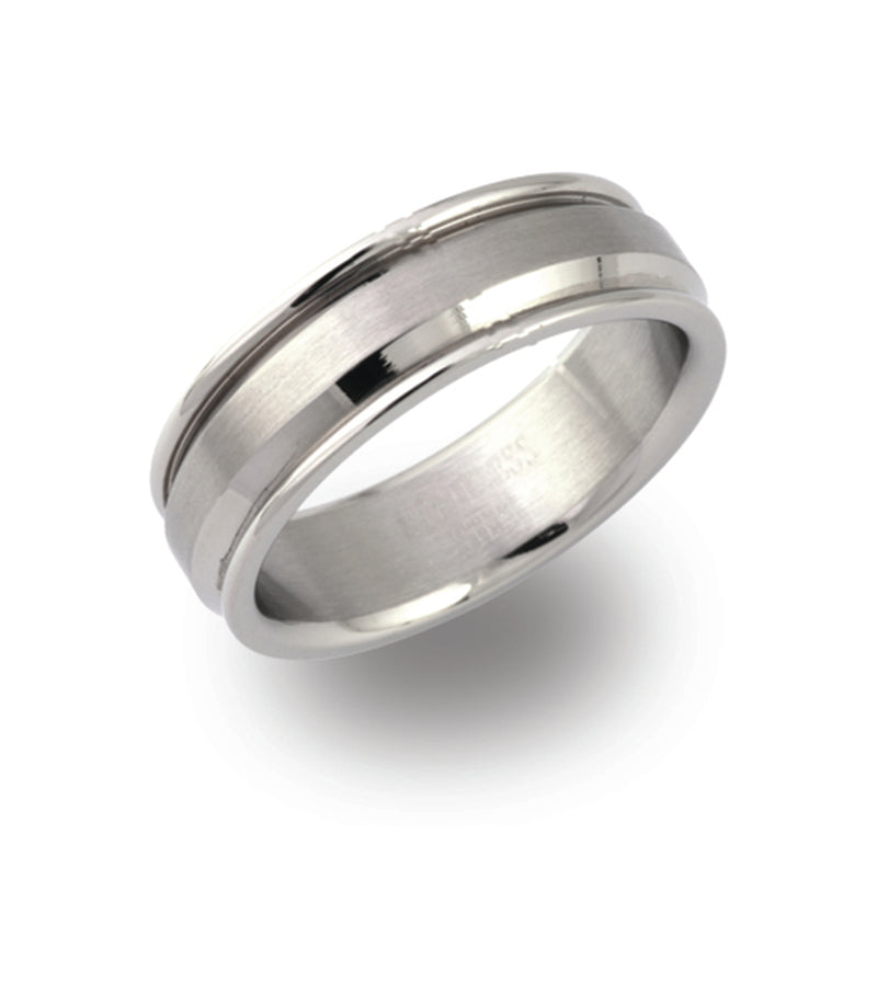 Unique & Co Steel Ring R9171 - Hamilton & Lewis Jewellery