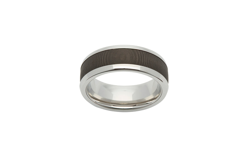 Unique & Co Steel Ring R9179 - Hamilton & Lewis Jewellery