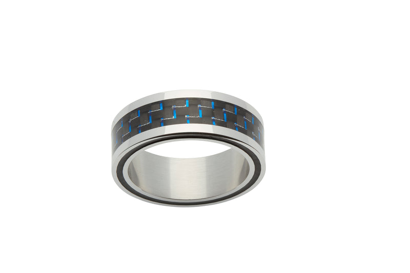 Unique & Co Steel Ring R9182 - Hamilton & Lewis Jewellery