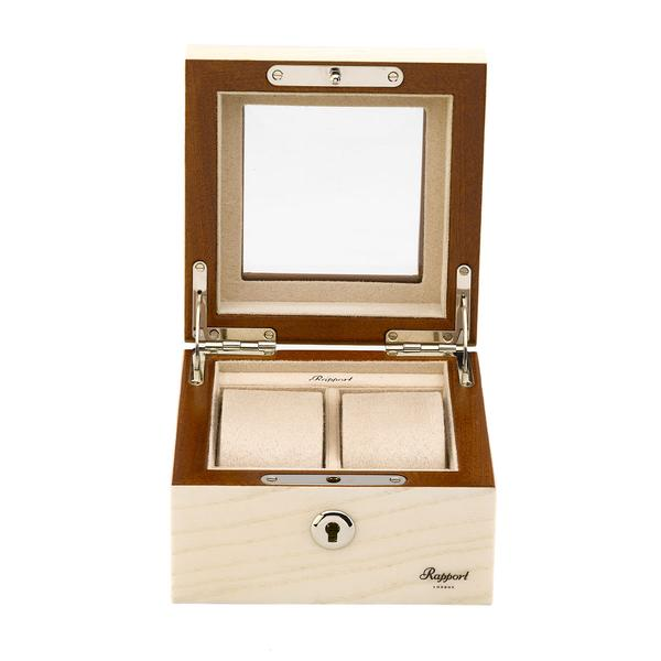Rapport Optic 2 Piece White Watch Box L422 - Hamilton & Lewis Jewellery
