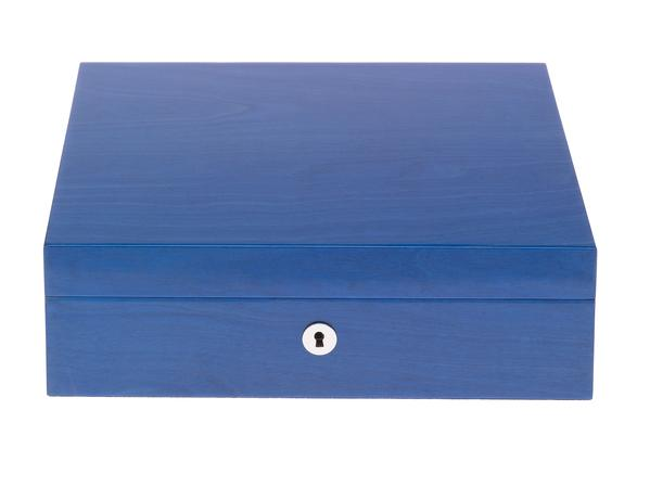 Rapport Heritage Blue 8 Watch Box L401 - Hamilton & Lewis Jewellery