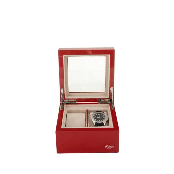 Rapport Evo 2 Piece Red Watch Box BVO62 - Hamilton & Lewis Jewellery
