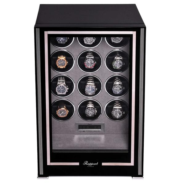 Rapport Paramount Black 12 Piece Watch Winder W212 - Hamilton & Lewis Jewellery
