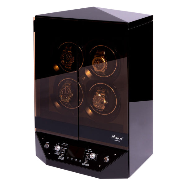 Rapport Templa Black Quad Watch Winder W300