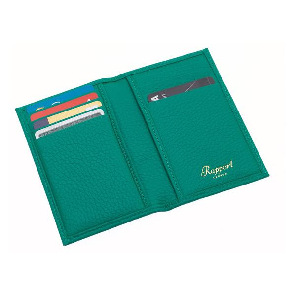 Rapport Sussex Green Leather Card Wallet F167 - Hamilton & Lewis Jewellery
