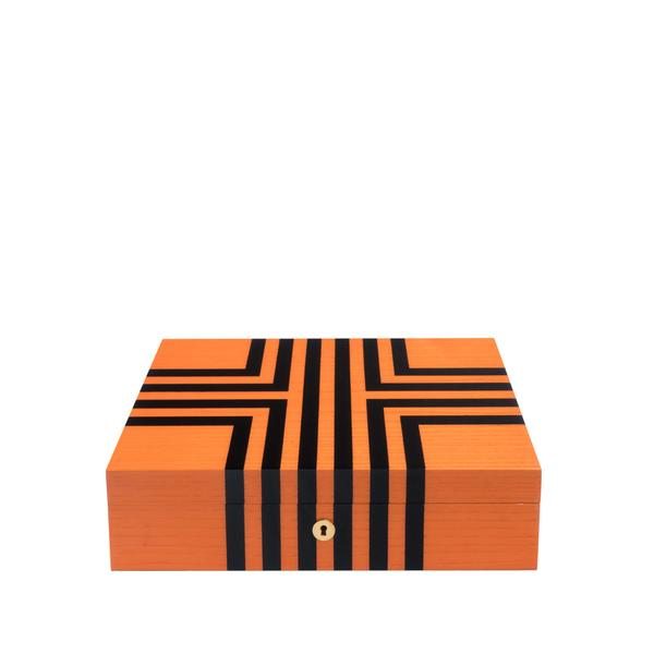 Rapport Labyrinth Orange 10 Watch Box L442 - Hamilton & Lewis Jewellery
