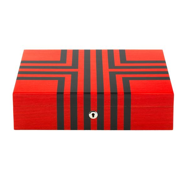 Rapport Labyrinth Red 10 Watch Box L444 - Hamilton & Lewis Jewellery
