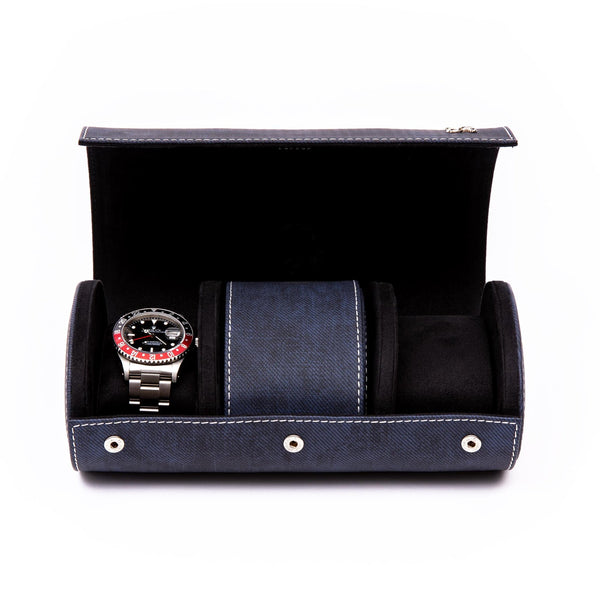 Rapport Soho Triple Navy Watch Roll D317