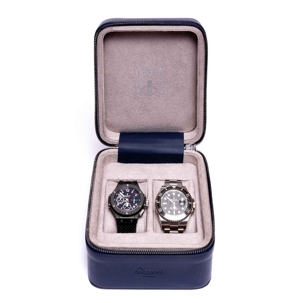 Rapport Hyde Park 2 Piece Navy Watch Box D263 - Hamilton & Lewis Jewellery