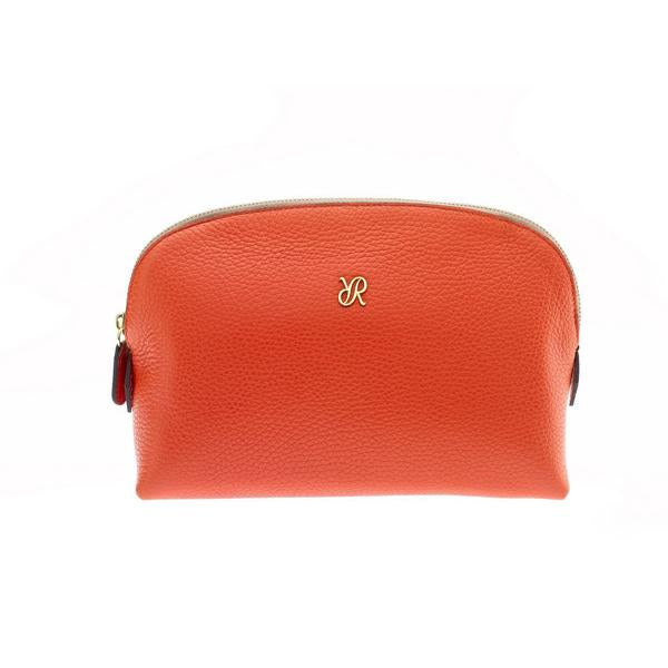 Rapport Large Orange Make Up Pouch F116 - Hamilton & Lewis Jewellery