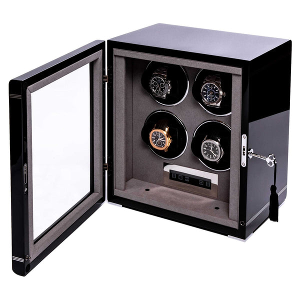 Rapport Formula Black Quad Watch Winder W554