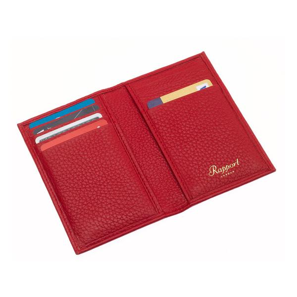 Rapport Sussex Red Leather Card Wallet F164 - Hamilton & Lewis Jewellery