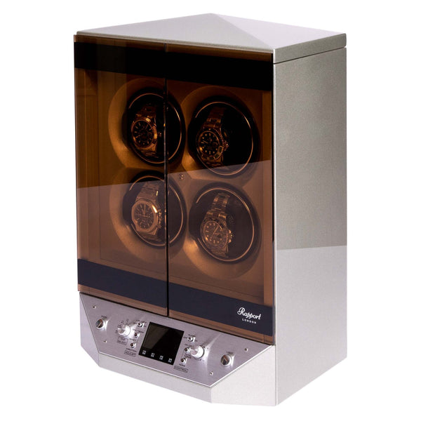 Rapport Templa Silver Quad Watch Winder W310