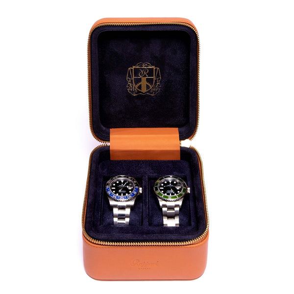 Rapport Hyde Park 2 Piece Tan Watch Box D262 - Hamilton & Lewis Jewellery
