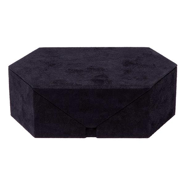 Rapport Tangram Triple  Black Suede Watch Box TA16 - Hamilton & Lewis Jewellery