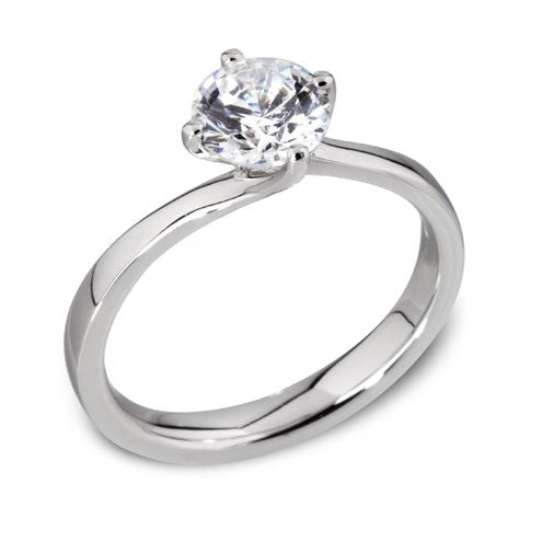 Round Four Claw Solitaire Ring 0.50ct - 1.00ct - Hamilton & Lewis Jewellery