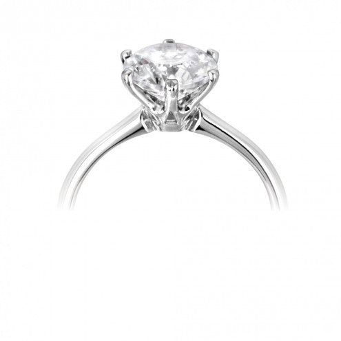 Round Six Claw Solitaire Ring 0.25ct - 1.00ct - Hamilton & Lewis Jewellery