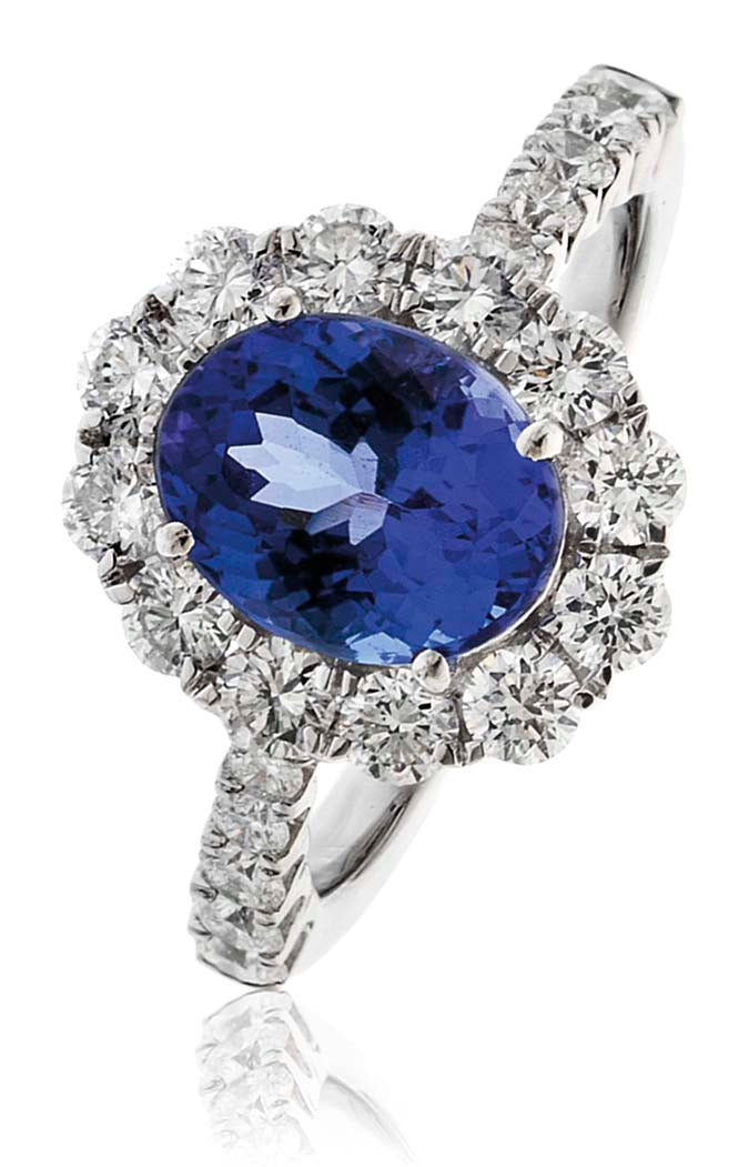 Tanzanite Ring 2.20ct - 3.10ct - Hamilton & Lewis Jewellery