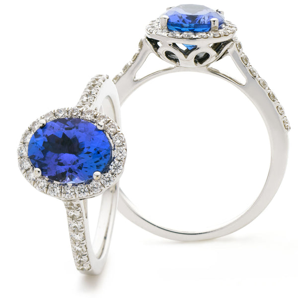 Tanzanite Ring 1.15ct - 2.05ct