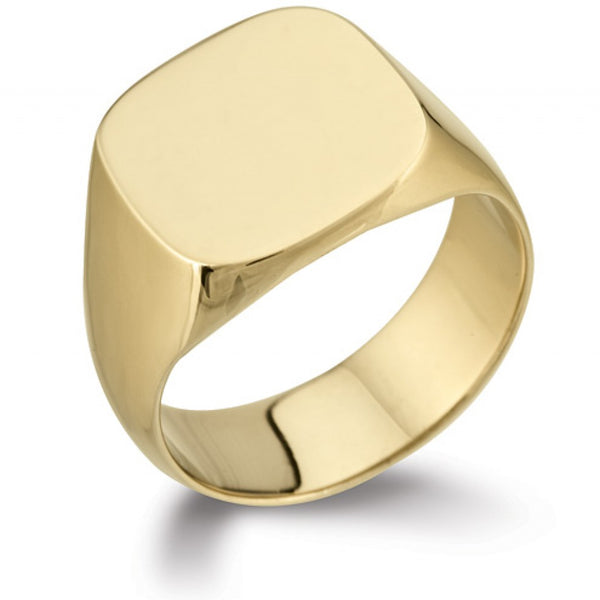Rounded Square Signet Ring SR5 - Hamilton & Lewis Jewellery