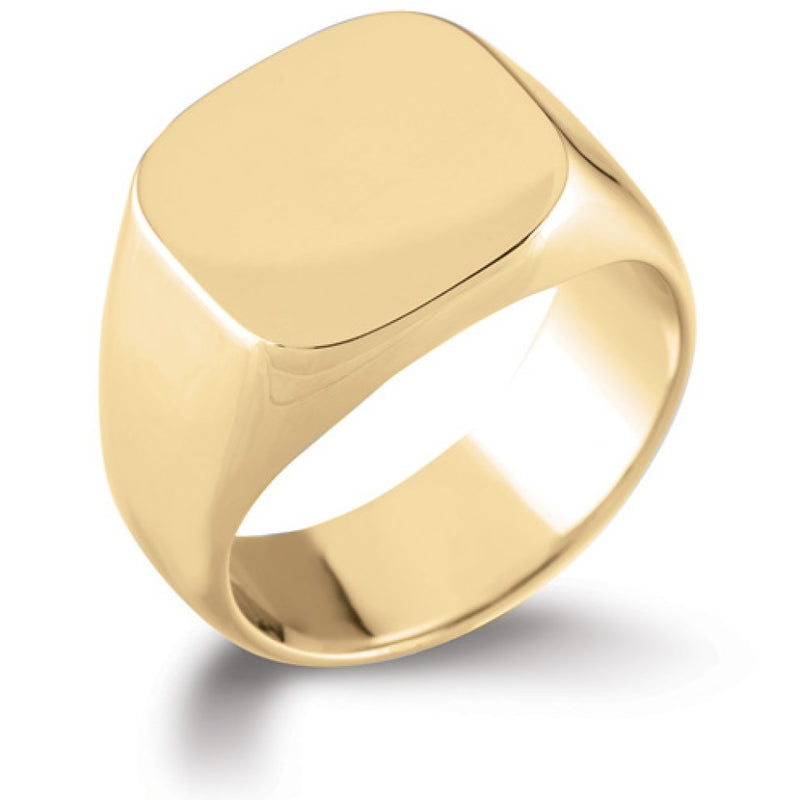 Rounded Square Signet Ring SR62 - Hamilton & Lewis Jewellery